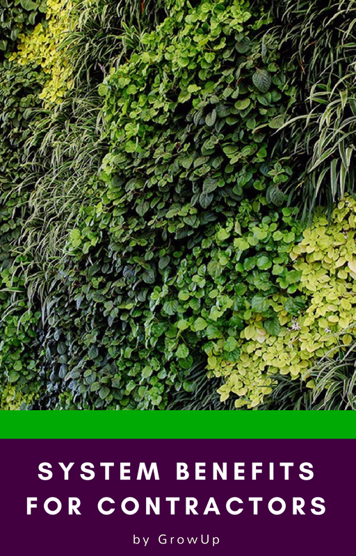 GrowUp greenwalls System benefits