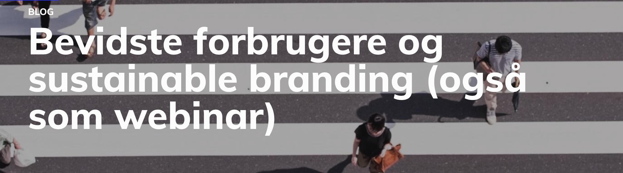 Bevidste Forbrugere og sustainable branding