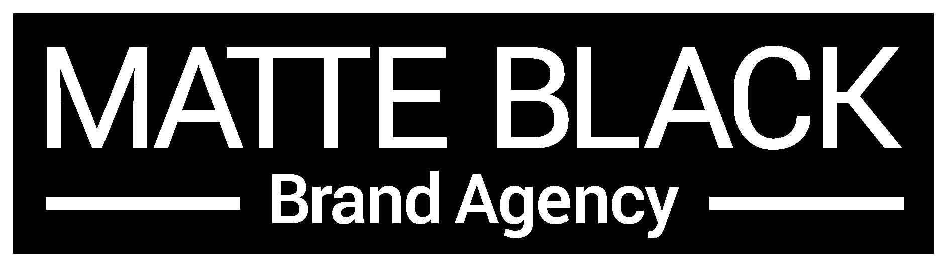 Matte Black Brand Agency Homepage